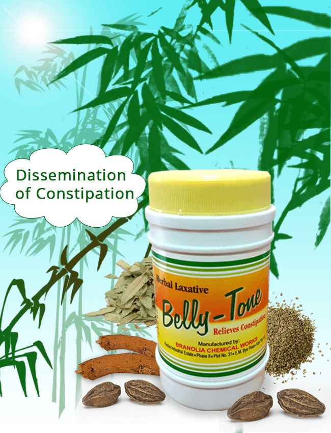 Bellytone, dissemination of constipation