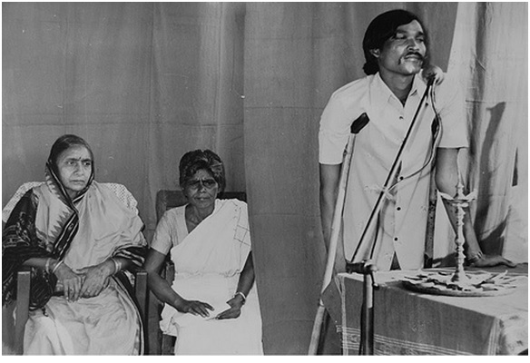 Parbati Giri at a public function. She was known for her work on Leprosy in Western Orissa